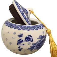 New listing Thy Home Exquisite Oriental Ceramic Tea / Coffee Storage Jar Crock Canister