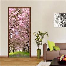 3D Cherry Blossoms 7 Door Wall Mural Photo Wall Sticker Decal AJ WALLPAPER US