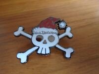 Disney's Skull & Crossbones Jack Skellington With Christmas Hat Pin Badge