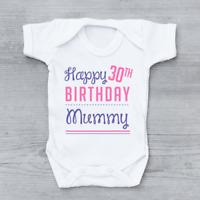 Happy Birthday Daddy Mum Says You/'re Welcome Boys Baby Vest Grow Bodysuit