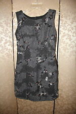 Theory RARE Gray Rubber Flock Sequin Embroidered Wool DOPHAL Dress 2