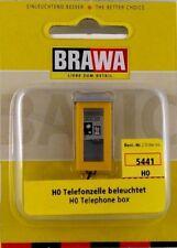 BRAWA 5441 H0 Telefonzelle gelb #63648