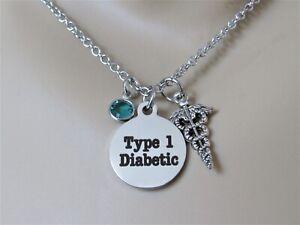 Type 1 Diabetic Necklace, T1D Alert, Medical Alert, Gift for Daugher, Medical