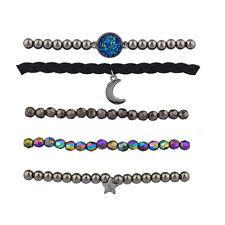 Lux Accessories Celestial Moon Stars Arm Candy Friendship Bracelet Set 5PC