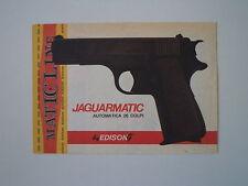 advertising Pubblicità 1976 PISTOLA JAGUARMATIC EDISON
