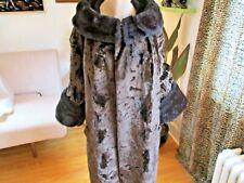 FANTASTIC 1950'S Rockabilly Faux Fur MINK Persian Lamb FOX Swing Coat