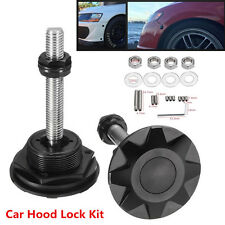 Universal Push Button Billet Hood Pins Lock Clip Kit Car Quick Pins