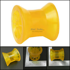 """Tiedown Boat Trailer 3"""" Amber/Yellow Poly Bow Roller only Fits 1/2"""" Shaft"""