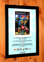 2003 Jak II 2 Renegade Playstation 2 PS2 Rare Small Poster / Ad Page Art Framed