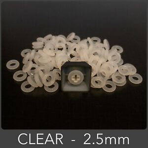 110pcs Clear 2.5mm O-Ring Keycap Damper for Cherry MX Mechanical Keyboard Switch