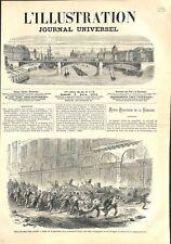 Guerre Civile Délivrance de Paris Barricade de la Chaussée-d'Antin GRAVURE 1871