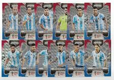 2018 Panini Prizm FIFA World Cup BLUE RED Wave Team Set ARGENTINA (12 Cards)