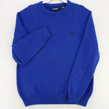 CHAPS BLUE CREW NECK KNIT LONG SLEEVE PULLOVER SWEATER MEN'S L LARGE