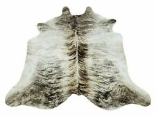 Small Cowhide Rug Grey Brindle White 6ft X 6ft