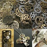 100g Watch Parts Steampunk Jewellery Art Craft Cyberpunk Cogs Gears DIY Charms