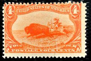 1898 US SC#287 4c India Hunting Buffalo Trans-Mississippi Mint