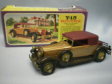 MATCHBOX MODELS OF YESTERYEAR Y-15 1930 PACKARD VICTORIA GOLD BODY
