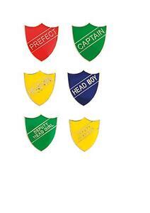 School Enamel Shield Badge Prefect, Captain, Head Girl, Head Boy,