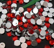 1000pcs Red Crystal Flatback Acrylic Rhinestones Beads 5mm