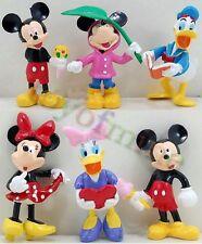 Mickey Mouse Minnie Moue Donald Duck Pvc Figure Pvc 6pcs/set Toys