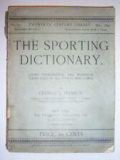 1895 The Sporting Dictionary. By George J. Manson.
