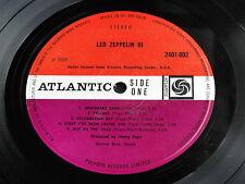 Led Zeppelin III 1970 UK  ATLANTIC RECORDS 2401002 PLUM RED STEREO LP. EX/VG+