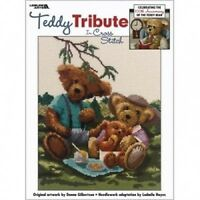 Teddy Tribute Bear Counted Cross Stitch Chart Pattern