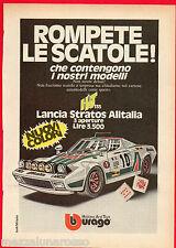 Pubblicità Advertising BBURAGO 1976 Lancia Stratos Alitalia