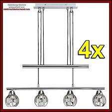 Briloner Balken Leuchte höhenverstellbar Edelstahl chrom Glas 4x E14 max. 40W