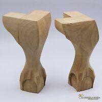 Piedi gambe in legno per restauro vetrina pouf sgabello ricambi mobili antichi