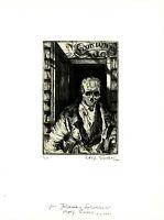 Rolf Escher: Pyxis Iatreion. (2000). Signierte Original-Radierung.