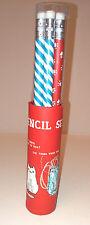 Pickle Parade 6 matita Pot Set gatti design blu a righe bianco rosso Paw Prints Regalo