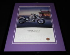 Harley Davidson 2005 Fat Boy Motorcycle Framed 11x14 ORIGINAL Advertisement