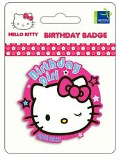 Badge Birthday Hello Kitty, Party/Props/Decorations/Supplies/Gifts