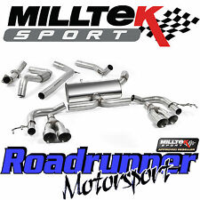 "Milltek SSXHO219 Honda Civic Type R FK2 Auspuff 3"" Race Cat Back-Titan Tipps"