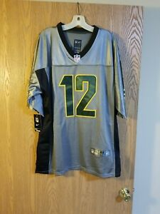 Aaron Rodgers #12 Green Bay Packers Sewn Silver Nike On Field Jersey Sz 48 NWT