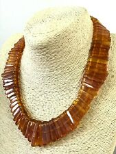 Old Vintage Antique Natural BALTIC AMBER NECKLACE Collar Cognac Beads 68g 8680