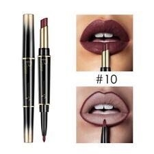Waterproof Non-stick Rotating Lip Liner and Lipstick Pencils Long Lasting Matte