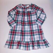 Gymboree Kids Gymmies Pajamas Night Gown Small 5 6 Plaid Red White Green