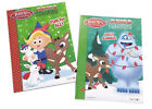 NEW Set of 2 Rudolph the Red Nose Reindeer Kids Coloring Book Activity Books Set