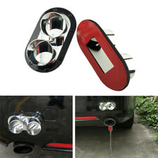 2PCS Fake Exhaust Pipe Decoration Car Rear Bumper Anti-Collision Protector ABS