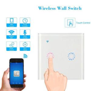 Mural WiFi tactile Interrupteur sans fil APP Télécommande Pour Alexa Google