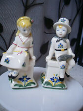 Vintage Jus Royal Copenhagen Denmark Child Welfare Series Boy & Girl Figurines