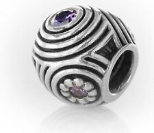 Pandora SILVER AND PURPLE ZIRCONIA  Charm - HYPNOTIC - 790432ACZ RRP£50!!!