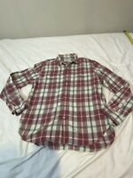 Lucky brand men shirt size x large Red  flannel 41