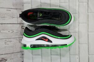 Nike Air Max 97 (GS) Athletic Sneakers White Green Black YOUTH SIZE 4.5