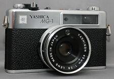YASHICA MG-1 35mm Rangefinder Vintage Film Camera YASHINON f/2.8 45mm Lens JAPAN