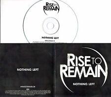 RISE TO REMAIN Nothing Left 2011 UK 1-trk promo test CD