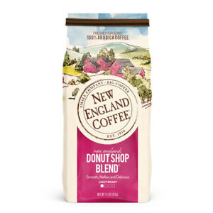 New England Coffee Donut Shop Blend, Light Roast, Ground Coffee, 11 oz.