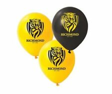 25 X Richmond Tigers AFL Team Latex Balloons